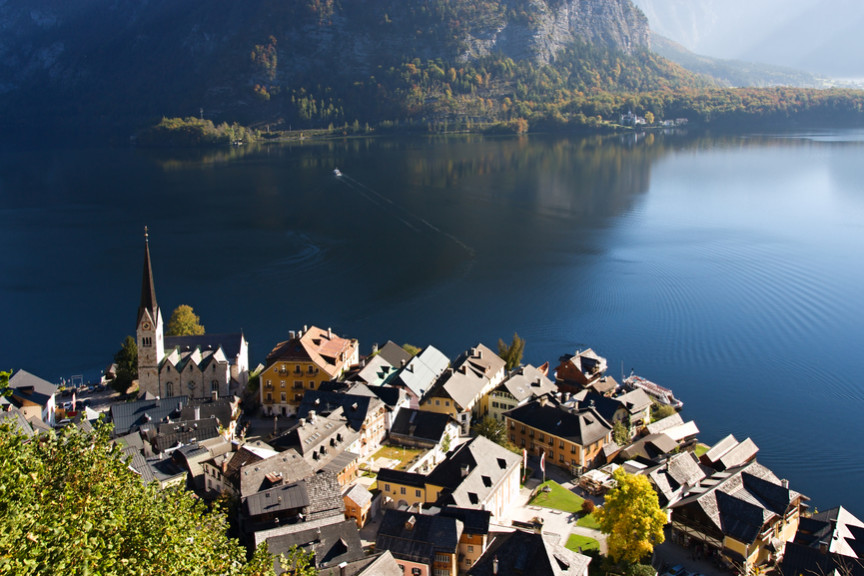 Beautiful Lake Hallstatt in Austria