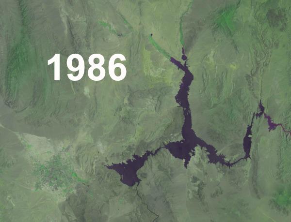lake mead satellite image
