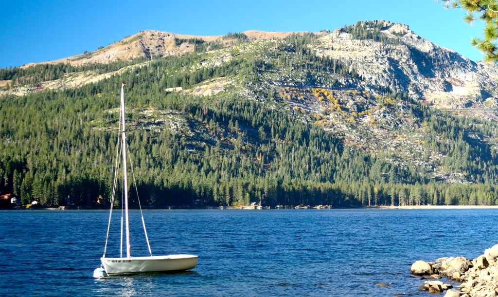 Donner Lake sailboat