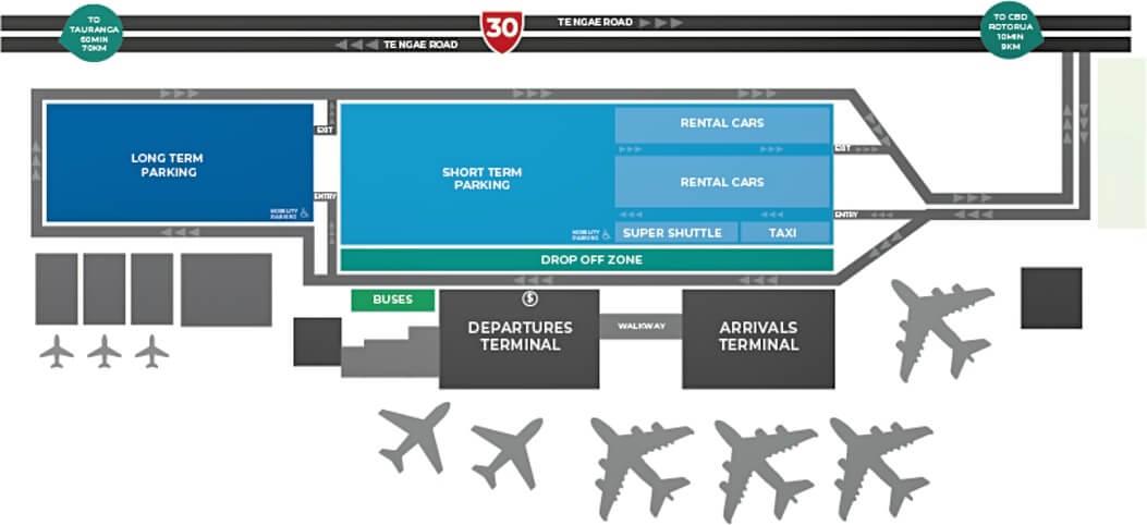 rotorua airport layout